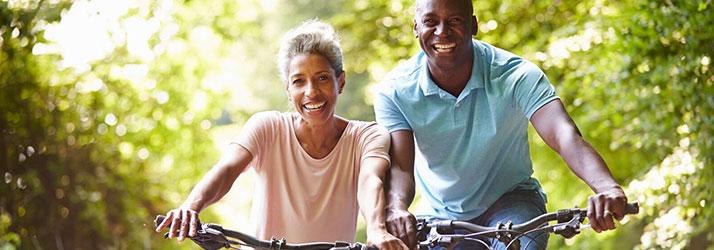 Chiropractic Chesterfield MO Mountian Biking Couple